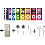 8 GB MP3 MP4 Player (4th Gen) With Built In FM Radio, FREE USB Cable, Rubber Case & Earphones by giZmoZ n gadgetZ ®