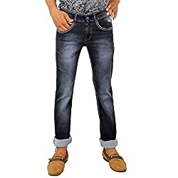 Hasasi Denim Men's Regular Fit Jeans - BL3415-Jeans-Black-36