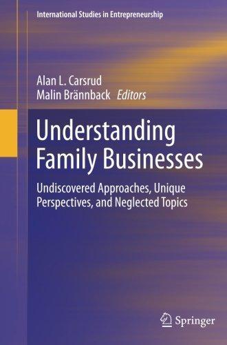 Comprensión de las empresas familiares: Por descubrir enfoques, perspectivas únicas y descuidados temas (estudios internacionales en emprendimiento)
