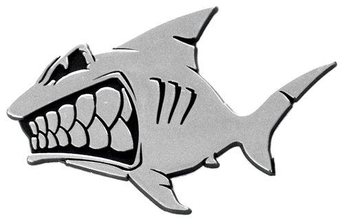 Shark Emblems Shark Surfing Auto Emblem