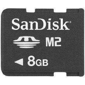 Sandisk 8GB M2 Memory Stick Micro (SDMSM2-008G-K, Bulk Package)