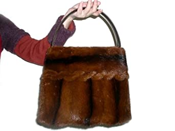 Mahogany Brown Full Skin Mink Tote Bag