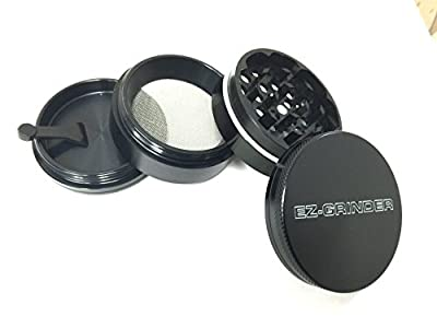 EZ Grinder 2.2 inch Herb Grinder with Pollen Catcher 4 Piece Anodized Aluminum