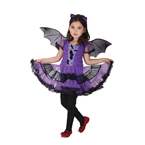 Amur Leopard Kids Halloween Party Animal Costume Dress Bat XL