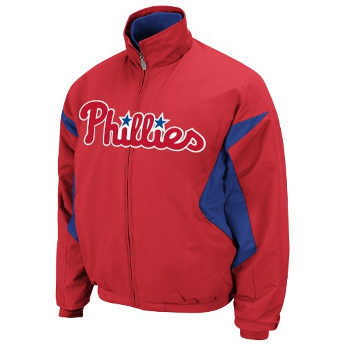 MLB Philadelphia Phillies Triple Peak Premier Jacket, Red/Blue, Large at Amazon.com