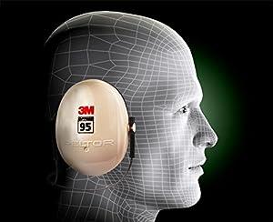 3M Peltor Optime 95 Behind-the-Head Earmuffs, Hearing Conservation H6B/V (Tamaño: Behind the head)