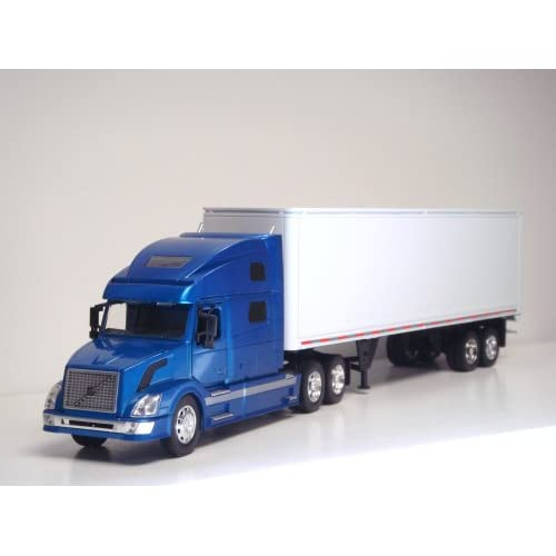 Toy Tractor Trailer Trucks : Volvo vn tractor trailer g scale toy truck blue