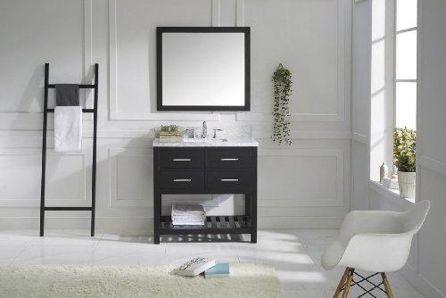 Virtu Usa Ms-2236-Wmsq-Es Transitional 36-Inch Single Sink Bathroom Vanity Set, Espresso