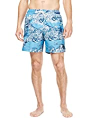 XXXL Blue Harbour Map Print Quick Dry Swim Shorts