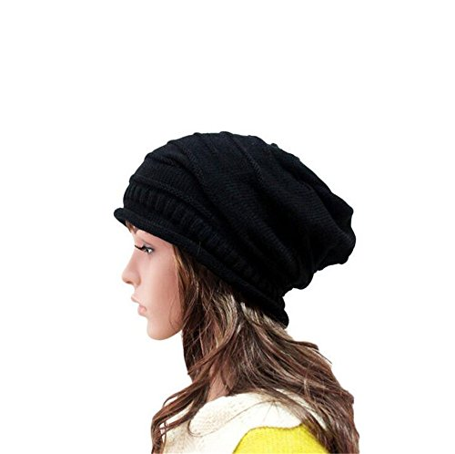 Century Star Womens Slouch Beanie Basic Skull Cap Designer Soft Stretch Beanie Black (Extra Large Beanie Hat compare prices)