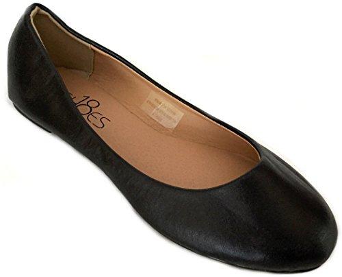 Womens Ballerina Ballet Flat Shoes Solids & Leopards 10