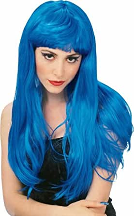Rubie's Costume Blue Glamour Wig, Blue, One Size