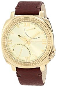 Vince Camuto Men's VC/1003CHGP The Veteran Champagne Dial Date Function Gold-Tone Watch