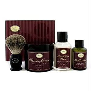The Art Of Shaving The 4 Elements Of The Perfect Shave - Sandalwood (New Packaging) (Pre Shave Oil + Shave Crm + A/S Balm + Brush) 4pcs
