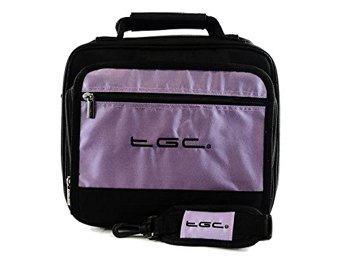 sonydvp-fx820-r-8-portable-dvd-player-twin-compartment-case-bag-by-tgc-r-electric-purple-black