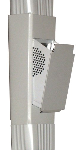 """Downspout Filter, Slim Line, 3""""x4"""", Low Gloss White"""