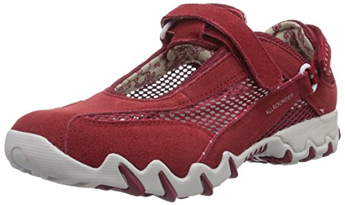 Allrounder by Mephisto NIRO C.SUEDE 48/OPEN MESH 48 RED/RED, Scarpe sportive outdoor donna, Rosso (Rot (RED/RED)), 39.5