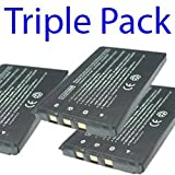 Premium Quality -Triple Pack- 3x Casio NP-20/NP-20DBA Compatible Digital Camera Battery For CASIO EXILIM EX-E770, EX-S600EO, EX-S880, EX-S2 by I-Luv-Life