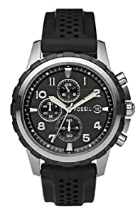 FOSSIL Dean Chronograph Silicone Watch-Black