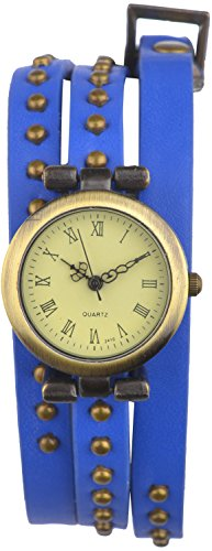 Habors Multiband Watch Blue Bracelet With Rivet Charms