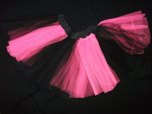 Hot Pink Blacktutu Skirt Gothic Petticoat Rave Dance Fancy Dress Costume