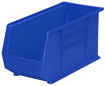 Akro-Mils Plastic Storage Stacking AkroBin, 18-Inch by 8-Inch by 9-Inch, Case of 6