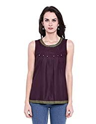 Fabindia Women's Body Blouse Shirt (10417266_Coke_X-Small)
