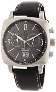 Zeppelin Men's Mediterranean Chronograph Watch 77842 with Cushion Shaped Case and Screw Down Case Back