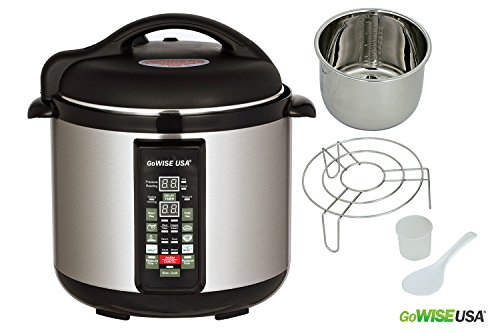 Stainless-steel Cooking Pot/ 6-in-1 Electric Pressure Cooker/Slow Cooker (4 QT) (Pressure Cooker 4qt Stainless compare prices)