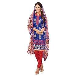 PARISHA Chanderi Silk Blue Women's Chudidar Suit 2RSK3004