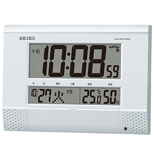 CLOCK SEIKO (Seiko) clock clock for digital radio clock temperature display humidity display program features SQ435W SQ435W
