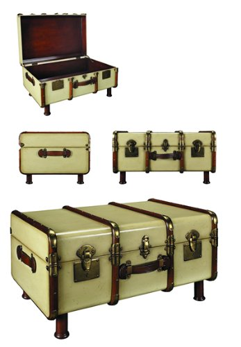 Stateroom Trunk Coffee Table Color: Ivory