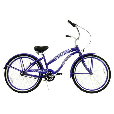 Women's 3-Speed Premium Beach Cruiser Frame Color: Purple