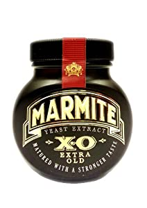 Limited Edition Marmite XO Extra Old Matured longer for a stronger taste 250g jar in Gift box