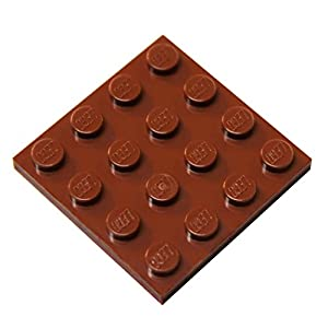 LEGO Parts and Pieces: Reddish Brown 4x4 Plate x100
