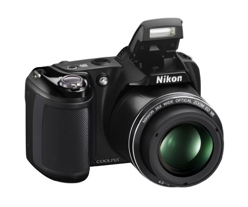 Best Deals! Nikon Coolpix L330 – 20.2 MP Digital Camera with 26x zoom 35mm NIKKOR VR lens and FULL HD 720p (Black)