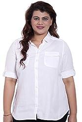 LISS522_M_White 3/4th Sleeve Shirt