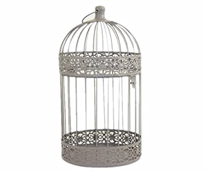 Metal Soft Tone Bird Cage Style Candle Holder 23cm from SIL
