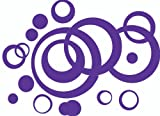 Purple Wall Vinyl Sticker Decal Circles, Bubbles, Dots 25+ Pc