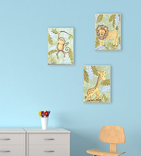 The Kids Room by Stupell Giraffe in the Jungle Rectangle Wall Plaque