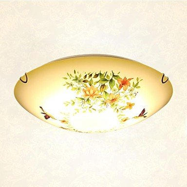 Sunweit 220V Flush Mounte 18W Led Light Traditional With Glass Shade Material