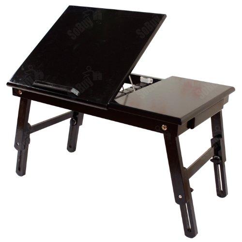 Buy Cheap SoBuy Folding Wood Food Breakfast Table, Bed Tray Table Desk, Foldable Laptop Table, Foldi...