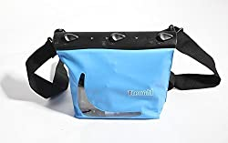 Zonman® Multipurpose Waterproof Bag for Debris Underwater Swim Waterproof Dry Bag Shoulder Belt Case Pack Pouch Swim Diving Fishing Kayak (Color: Blue)