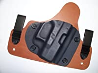 Hybrid Kydex Inside Waistband IWB Concealed Carry Holster for Glock 19 17
