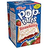 Kellogg's Pop Tarts Frosted Strawberry Toaster Pastries Box of 6/104g