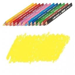 JOLLY X-BIG Delta Colored Pencil, Yellow, Three 12-Packs = 36 pcs. 3399-0004