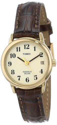 Timex Women's T20071 Easy Reader Brown Leather