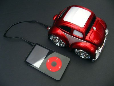 Mp3, I-Pod, Cd, Computer, Or Video Game Speaker And Interactive Vehicle-'59 Volkswagen Beetle: Chub City I-Playaz Series (Mp3 Player Not Included)