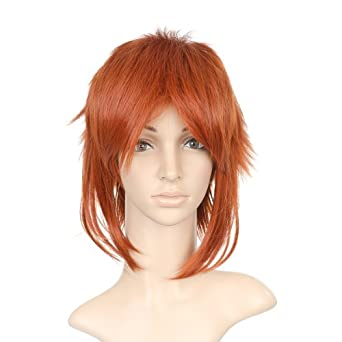 Red Short Length Anime Cosplay Costume Wig