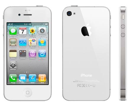 Iphone 4s 16gb White Page Plus, Internet, Apps,gps and More.. image